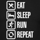 Eat-sleep-run-repeat-T-Shirts