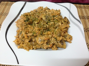 Dinner_Puten-Pilz-Stroganoff