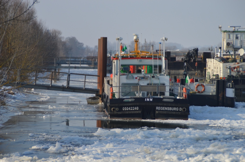 Vilshofen in Eis
