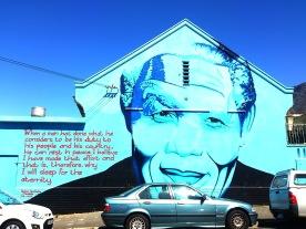 Street Art in der City Bowl- Nelson Mandela