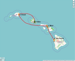 hawaii-route