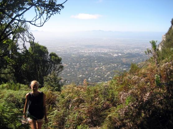 Kirstenbosch Garten - Wanderweg auf den Tafelberg